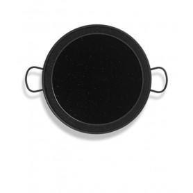Paellera Valenciana 12 cm Vitrificada Negra Vaello