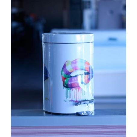 Cubo de basura para ba o blanco for Objetivo de bano de basura