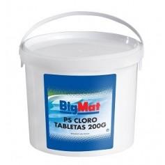 Cloro tab. 200 grs BigMat - Bote 5Kg